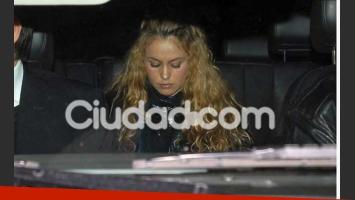 Paulina Rubio sube al patrullero, al ser arrestada en Miami. (Foto: Southern press).