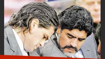 Diego Maradona y Alejandro Mancuso. (Foto: Web).