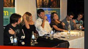 Mariano y el resto el elenco de Güelcom en la presentación del filme (Foto: Jennifer Rubio).