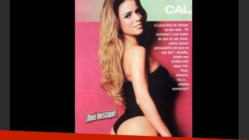 El destape sexy de Marina Calabró en la revista Paparazzi.