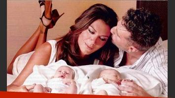 Florencia de la V presentó a sus hijos. (Foto: Revista Gente).