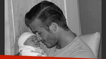 Harper Seven y David Beckham. (Foto: Web)