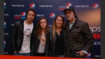 Gabriel Corrado y su familia.