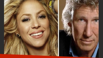 Shakira y Roger Waters. (foto: Web)