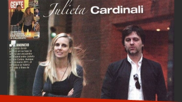 Julieta Cardinali recibió la visita de su novio español. (Foto: Paparazzi)