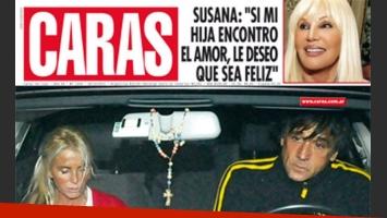 La última tapa de la revista caras con Mercedes Sarrabayrouse y su novio (Foto: Caras).