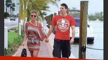 Amalia Granata y Juan Pablo paseando por Miami. (Foto: revista Gente)