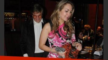 Silvio Soldán junto a Paula Díaz Galione, ex Miss Uruguay. (Foto: El Sensacional)