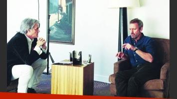 Roberto Pettinato entrevistó a Hugh Laurie. (Foto: Web)