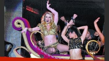 Britney Spears se presentó en La Plata, y hubo críticas. (Foto: La Razón)