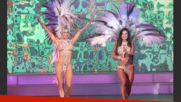Jésica Cirio y Adabel Guerrero, súper hot arriba del escenario. (Foto: VIG Prensa)