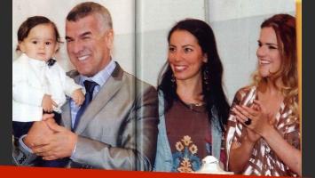 El bautismo de Felipe del hijo de Dady Brieva. (Foto: revista Gente)