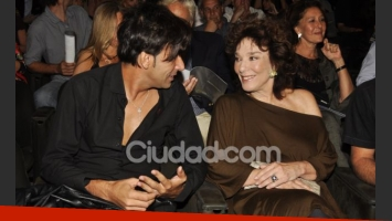La sorpresa en la gala de los premios Sur: Graciela Borges llegó con Martín Bossi. (Foto: Jennifer Rubio)