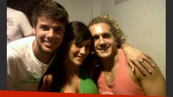 Jonatan, Jésica y Emiliano en la casa de Juan Pablo.