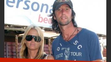 Mercedes Sarrabayrouse y Eduardo Celasco, otro verano, otra playa. (Foto: Web)