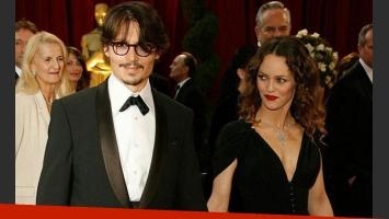 Johnny Depp y Vanessa Paradis, separados (Foto: Web).