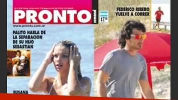 Eugenia Suárez angustiada porque Nacho Viale la engaño y la dejó. (Foto: Revista Pronto)