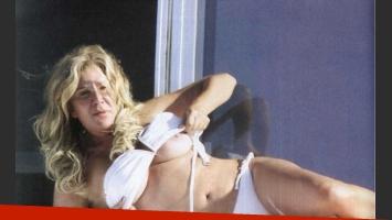 El casi topless de Reina Reech. (Foto: Revista Pronto)