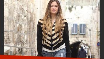 Victoria, de paseo por Israel. ¿Rompió el aislamiento? (Foto: Mako.co.il)