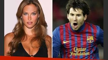 La ex de Leo DiCaprio, maravillada con Lionel Messi. (Foto: Web)