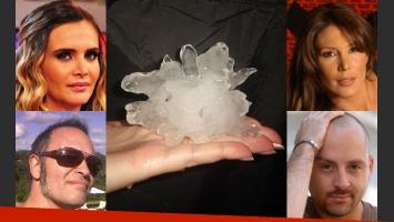 Al desatarse el granizo, los famosos reaccionaron en Twitter (Foto: Web).