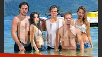 Los Teen Angels en la isla de Caras.