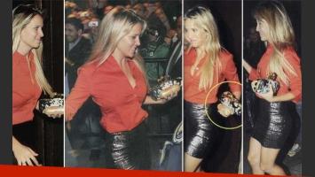 Luisana Lopilato se llevó un ¡leverwurst! del recital de Michael Bublé. (Fotos: Caras)