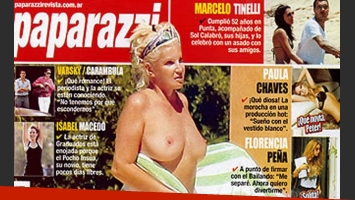Susana Giménez se animó a su topless más osado (Foto: Revista Paparazzi).