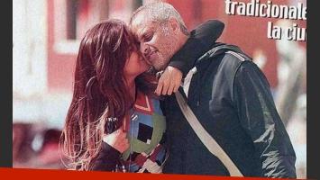 Jorge Rial y la Niña Loly: beso a beso en Italia. (Foto: Revista Paparazzi)