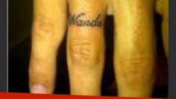 Mxi López se tatuó el nombre de su esaposa. (Foto: @wanditanara)