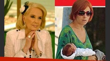 Mirtha Legrand y la salud del pequeño Alí Valenzuela. (Fotos: Web)