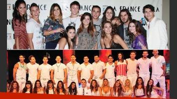 Arriba: los ex Gran Hermano 2012. Abajo: los ex Soñando por bailar 2. (Fotos: Web e Ideas del Sur)