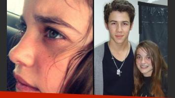 Rosario Moreno Salmoral había conocido a Nick Jonas el año pasado, gracias a Make A Wish. (Fotos: Web)