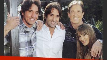 La familia Estevanez, unida. (Foto: revista Caras)