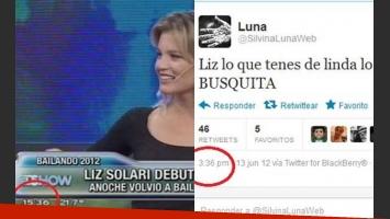 15.36, el momento del polémico tweet. (Fotos: captura TV y Twitter @silvinalunaweb)