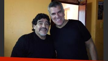 Diego Maradona se divirtió con el unipersonal de Dady Brieva. (Foto: Twitter)