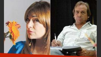 Claribel Medina y el actor René Monclova, felices. (Fotos: Clarín y Web)