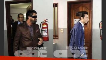 Luciano Garbellano y Galo, tras prestar declaración. No pueden salir de Paraguay. (Foto: diario ABC Color)