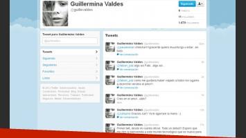 La flamante cuenta de Twitter de Guillermina Valdés, confirmada por su representante. (Captura: @guillevaldes)