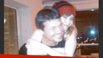 Marcelo Tinelli y Guillermina Valdés, en una foto publicada en Twitter.
