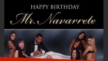 La foto final de la tarjeta con la que Navarrete promociona sus shows.