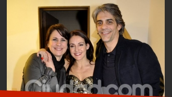 Dupláa y Echarri se acercaron a felicitar a Eleonora Wexler (Foto: Jennifer Rubio).