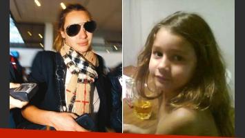 Carolina Pampita Ardohaín no se despega de su hija Blanca Vicuña, que sigue en coma inducido. (Fotos: Web)