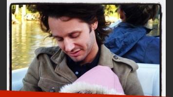 La foto con la que Benjamín Vicuña despidió públicamente a su hija.