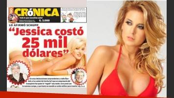 La portada de Crónica de Paraguay que enfureció a Jesica Cirio. (Foto: Web)
