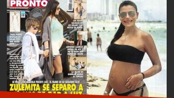 A semanas de dar a luz a su hijo, Zulemita Menem se habría separado de su pareja. (Foto: Pronto)