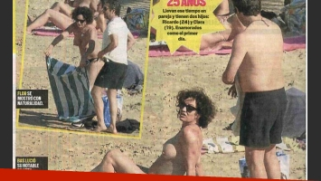 Florencia Bas hizo topless en las playas de San Sebastián (Foto: Diario Muy).