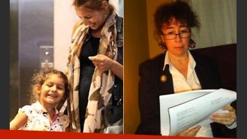 Izquierda: Pampita junto a su hija Blanca. Derecha: Leonor Ardohain, psicóloga y familiar de la modelo. (Fotos: Web y Facebook)