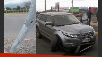 Benjamín Vicuña sufrió un accidente de tránsito con su camioneta. (Foto: @the_chileanway)