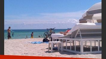 Rial y Loly disfrutan de las playas de Miami (Foto: @rialjorge).